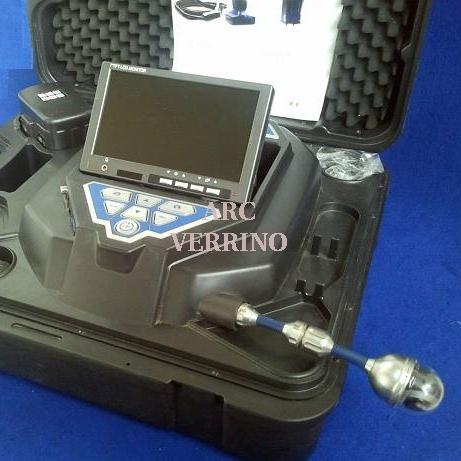 Videoispezione WOHLER VIS340S20 a colori con registrazione SD,testa girevole 40mm,cavo da 20m, 3888J