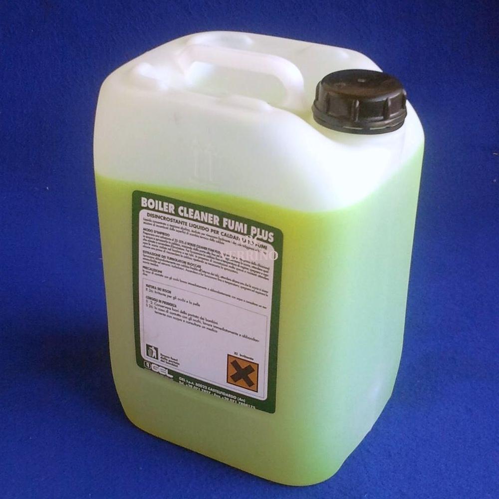 LIQUIDO GEL BOILER CLEANER FUMI PLUS ad azione disincrostante e sgrassante - tanica da 10 Kg