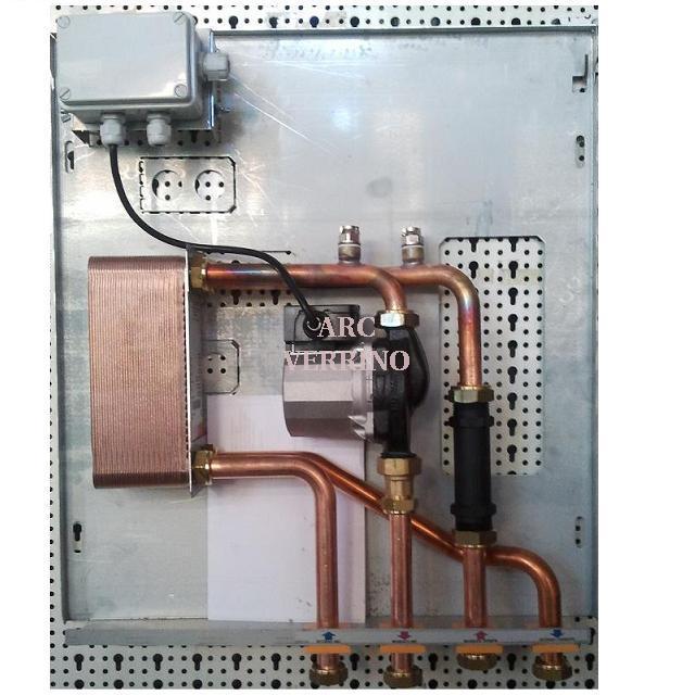 KIT MODULO RISCALDAMENTO da parete/incasso per integrare termocamino/stufe con caldaia a gas ...