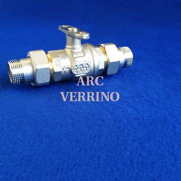 """CORPO VALVOLA SFERA COMPARATO 3/4"""" 2Vie MM con bocchettoni - Serie Diamant DC2B2A"""