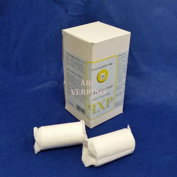 FLOCCULANTE in cartuccia 125gr - confezione da 1 Kg GOLD FLOC/100