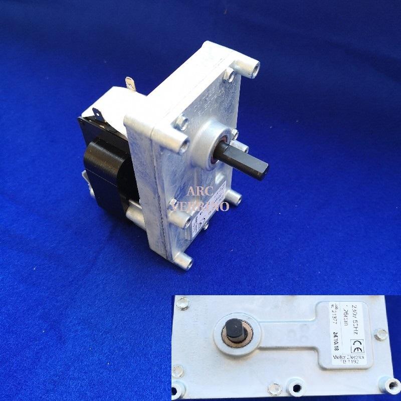 MOTORIDUTTORE MELLOR 230V 1,26 -1,3 rpm albero diam9,5mm H=28mm FB1267 - FB1192