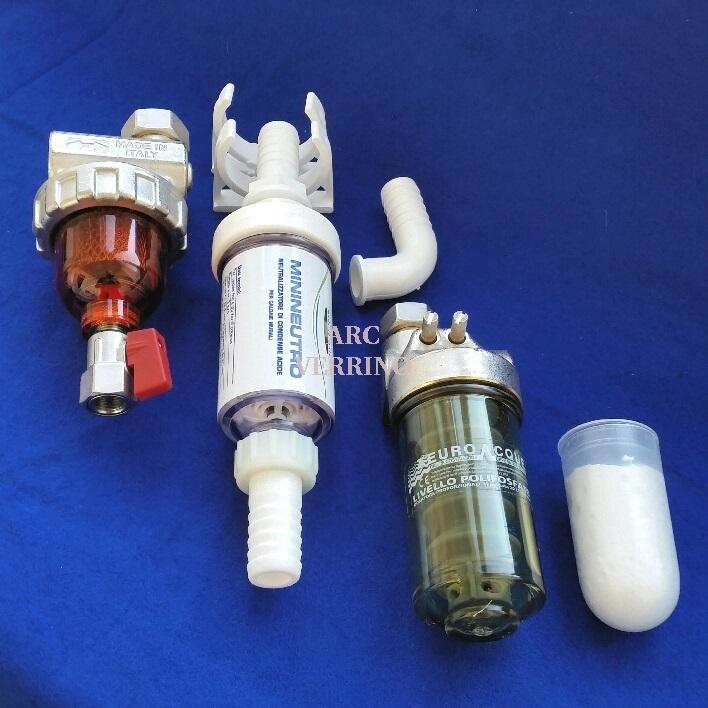 KIT SALVACALDAIA completo di: DOSATORE polifosfati + FILTRO Defangatore + NEUTRALIZZATORE condensa