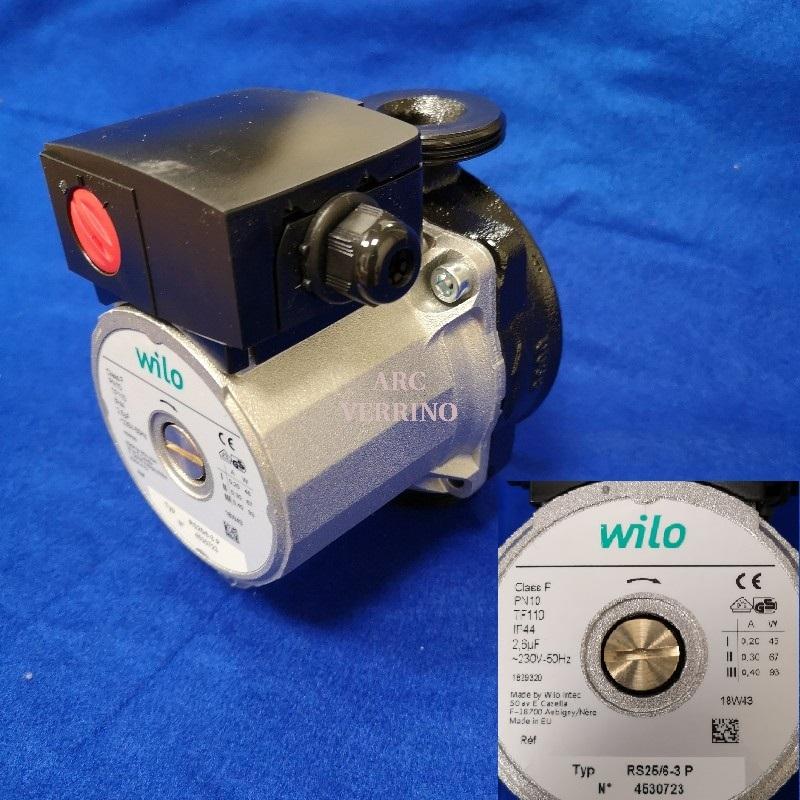 """CIRCOLATORE WILO RS  25/6-3 P 1""""1/2 130mm 4530723"""